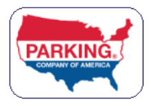 Parking logo with flag USA map