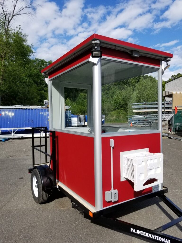 4x6 Trailer Booth in British Columbia, Canada with Outside Spotlights, Built-in AC, Custom Color