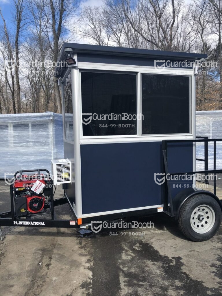 4x6 Trailer Booth in Newark, NJ with Tinted Windows, Outside LED Spotlights and Generator