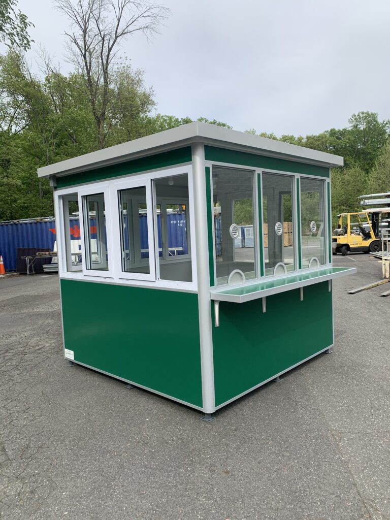 8x8 Ticket Booth in Binghamton, NY with Ticket Transaction Windows, Heating, Air Conditioner and Custom Exterior Color