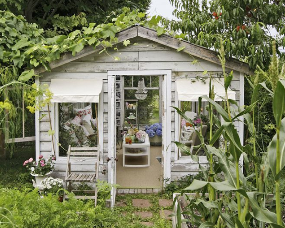 White garden she shack