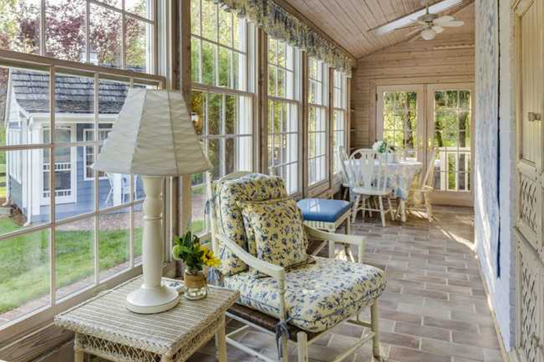 Prefab four-season sunroom