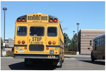 Back end of a school bus