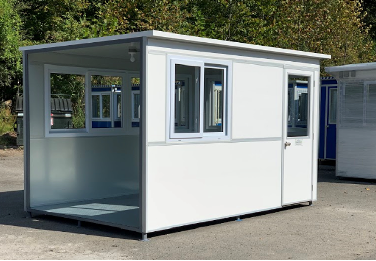 White modular office booth