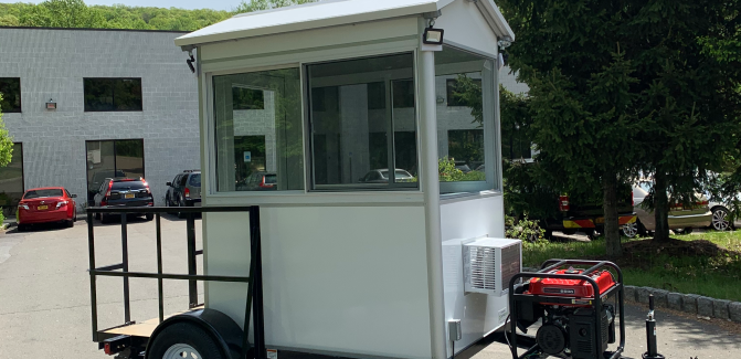 4x6 Trailer Booth in Orlando, FL with Custom Gable Roof, Outside LED Spotlights and Generator 1