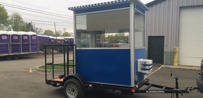 4x6 Trailer Booth in Ulster, PA with Tinted Windows and Heat and Air Conditioner 1