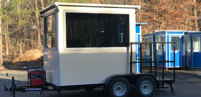 6x8 Trailer Booth in Fort Smith, AR with Generator and Level- 3 Bullet Resistant Tinted Glass and Custom Color 1