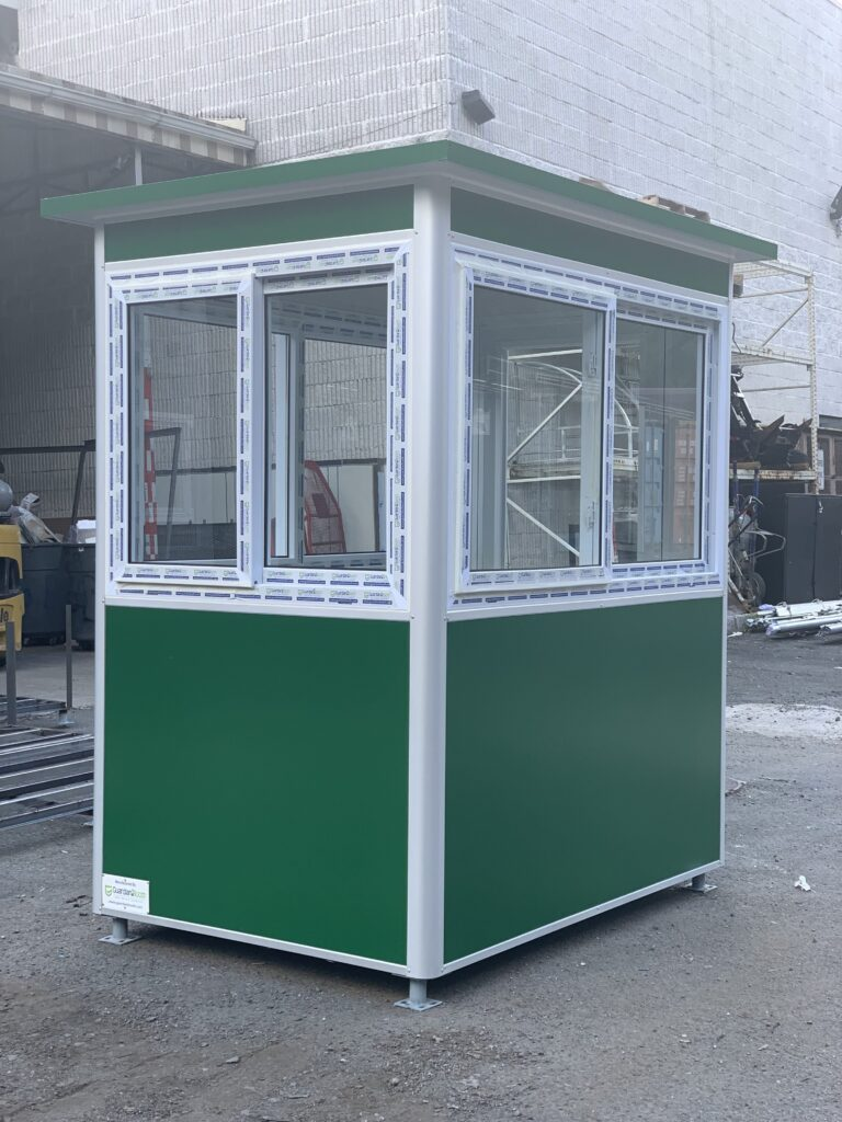 4x6 Entrance Gate Booth in Lakeport, MI with Extended Overhang, Custom Exterior Vinyl Wrap, Sliding Windows 1