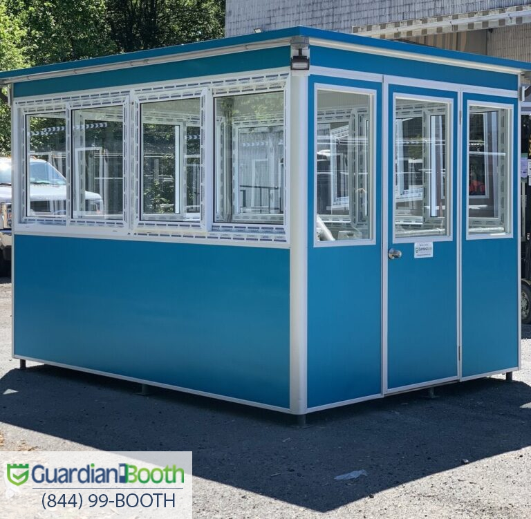 8x10  School Securityn Booth in El Centrom, CA with Custom Exterior Vinyl, Custo windows_exterior_spotlights