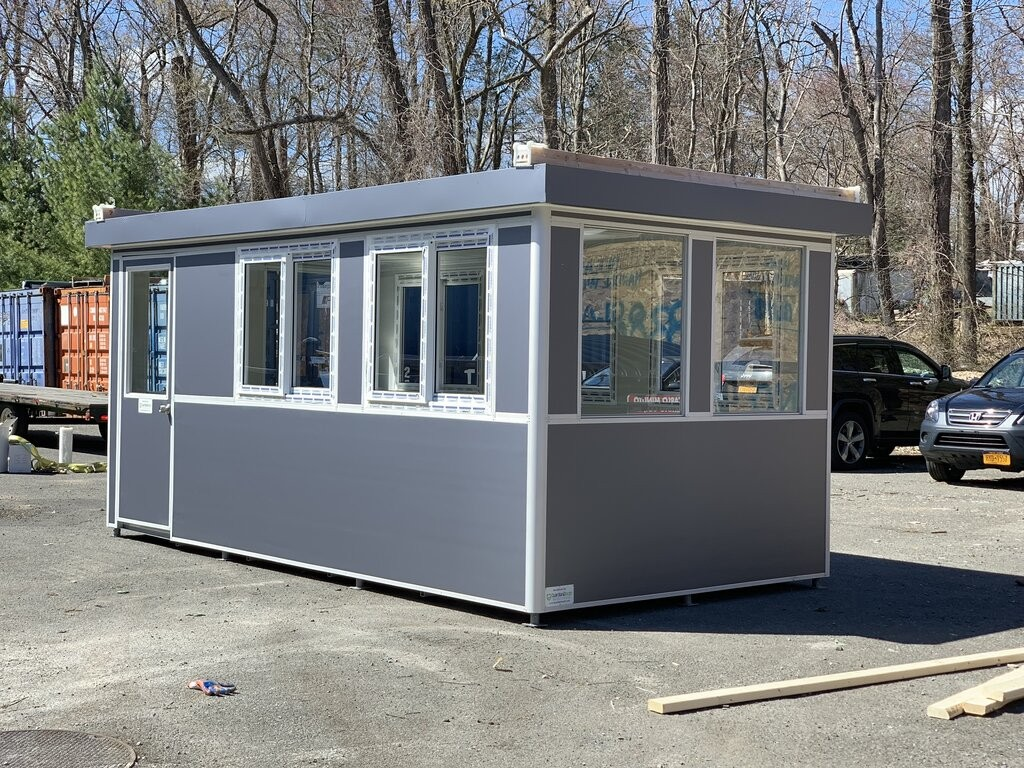 8x12 School Security Booth in Golden Valley, AZ with Fixed Windows, Custom Exterior Color, Built-In AC