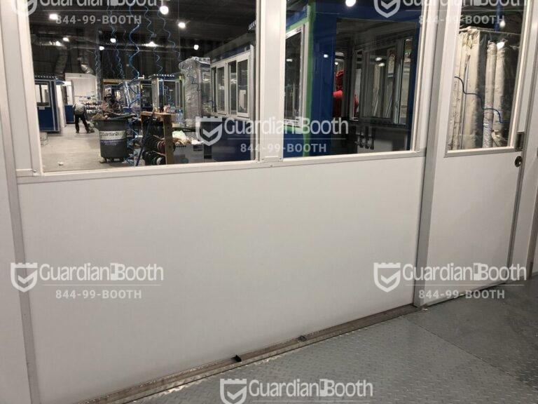 8x16 Modular Office in Turlock, CA with ADA Compliant Sliding Door Interior View