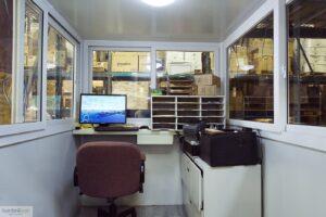 modular office booth interior