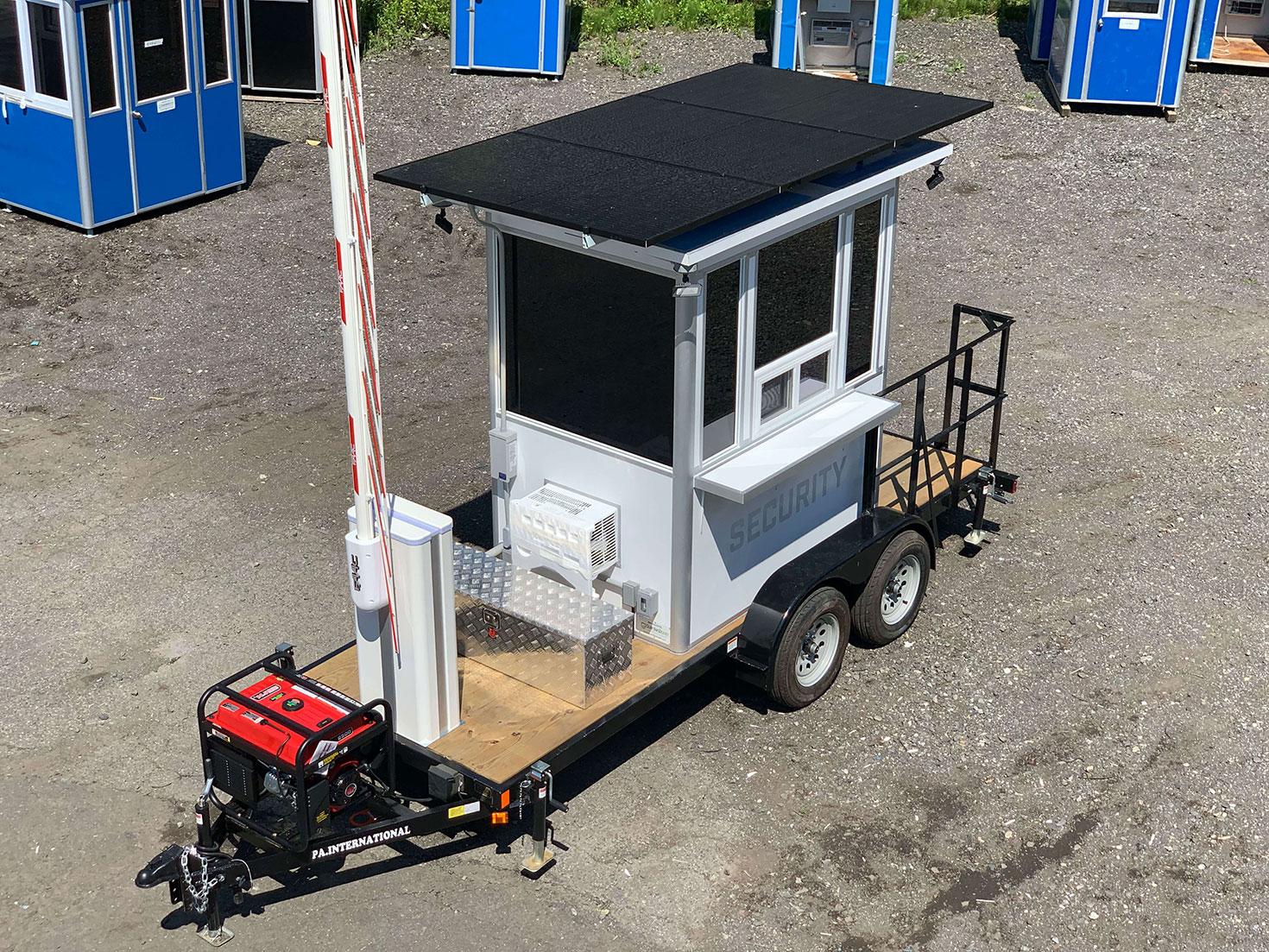 portable trailer solar powered
