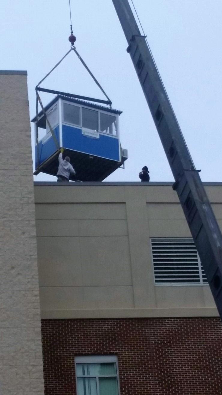 observation tower installation