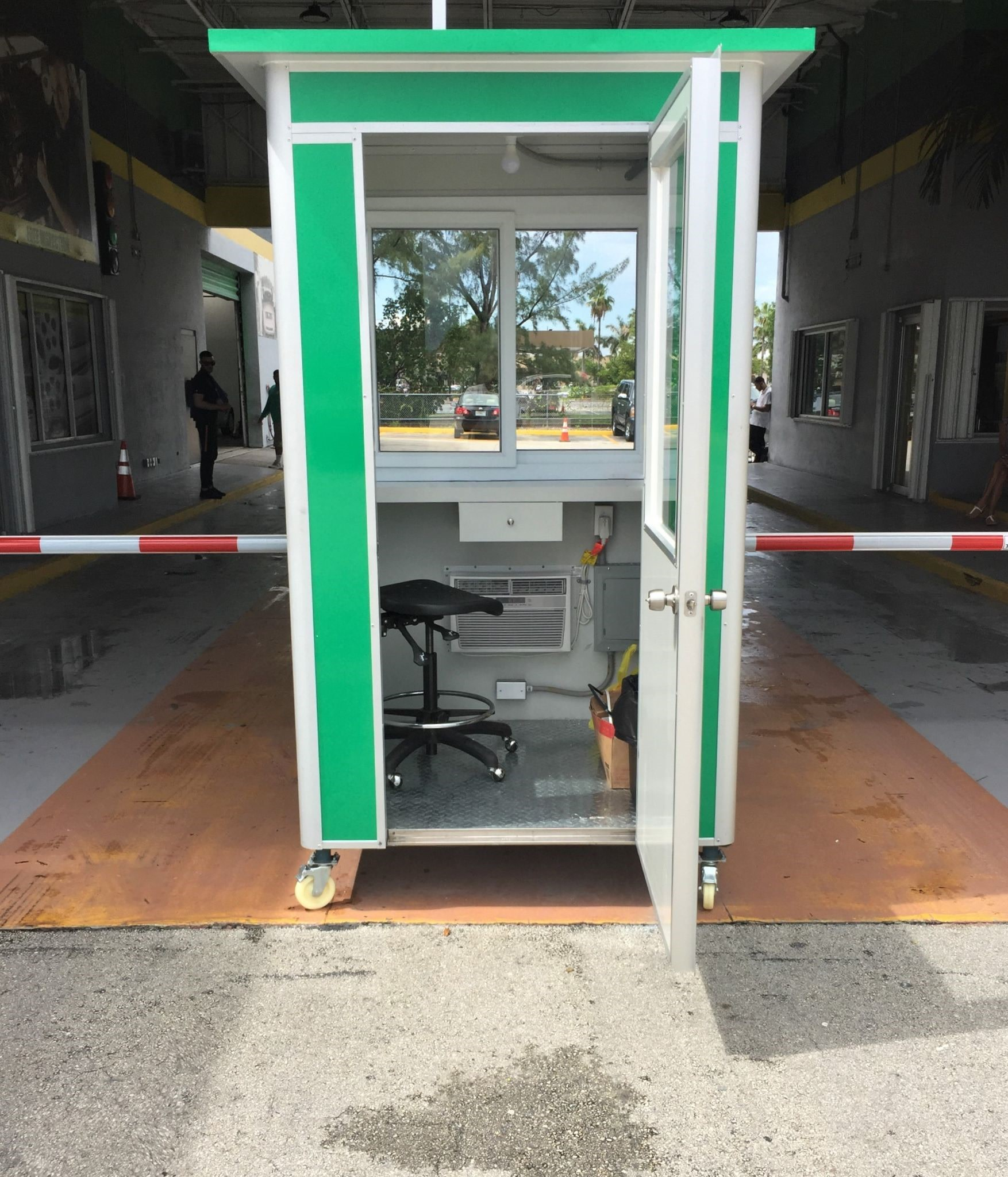 physical access control booth