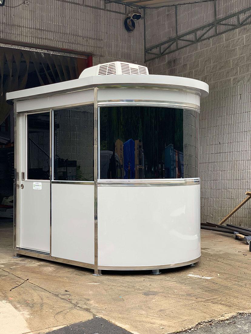 white prefab shelter round