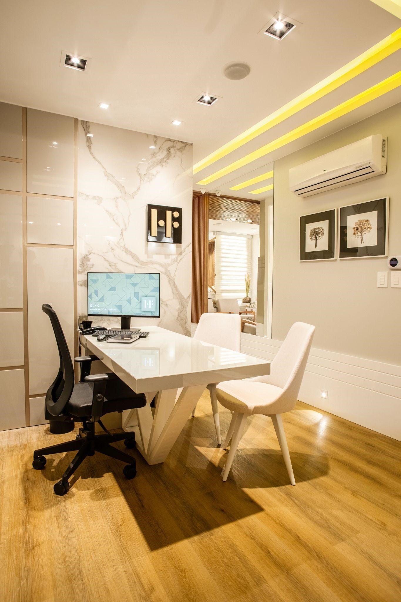 modern flex space with conference room setup
