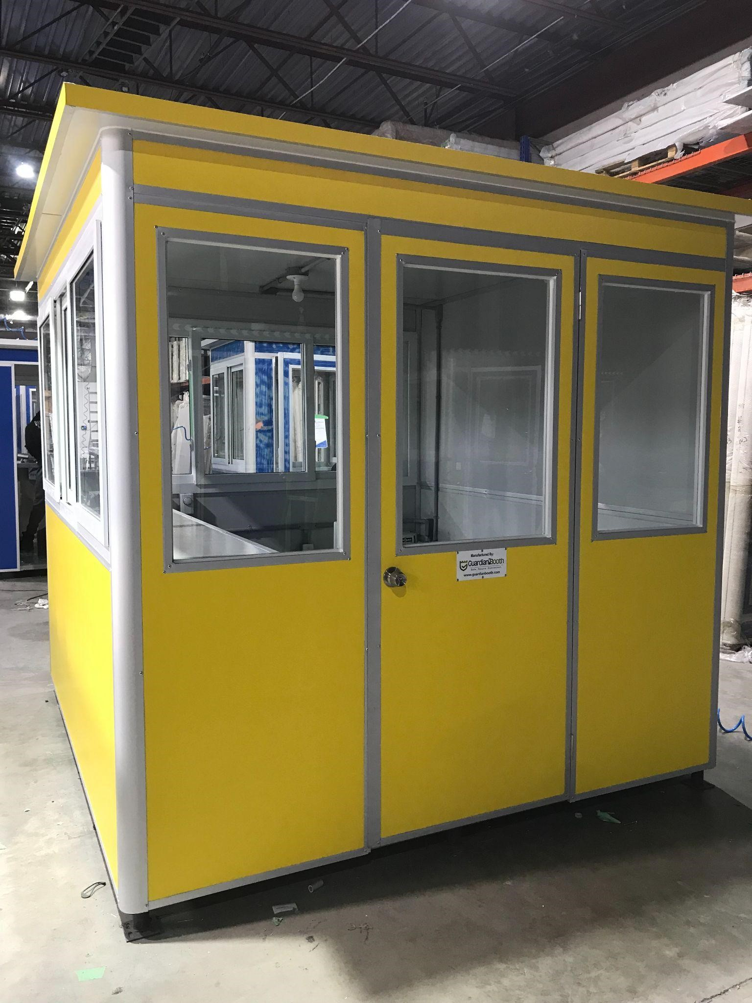 large yellow service writer booth