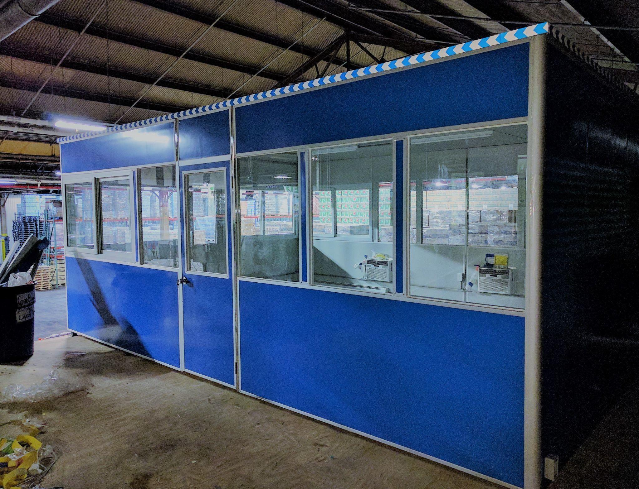 blue modular office
